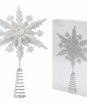 Feest sneeuwvlok piek wit