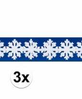 Feest sneeuwvlokken slingers winterdecoratie drie stuks