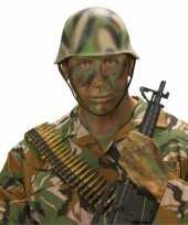 Feest soldaten helm camouflage