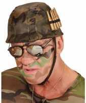 Feest soldaten helm met kogels