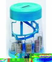Feest sorteer spaarpot blauw