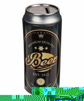 Feest spaarpot blikje beer zwart goud