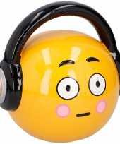 Feest spaarpot emoticons hoofdtelefoon 17 cm