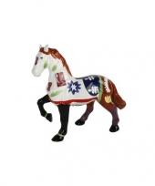 Feest spaarpot paard wit bruin