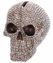 Feest spaarpot schedel bling 12 cm