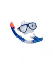 Feest speel snorkelset blauw volwassenen