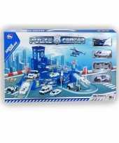 Feest speelgarage met politie autos