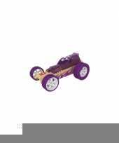 Feest speelgoed autootje racewagen bamboe 8 cm 10077383