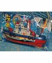 Feest speelgoed brandweer boot plastic