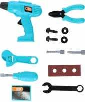 Feest speelgoed gereedschapset 13 delig voor jongens