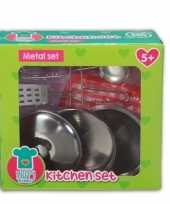 Feest speelgoed keuken gerei van metaal