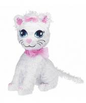 Feest speelgoed pinata poesje wit 43 cm