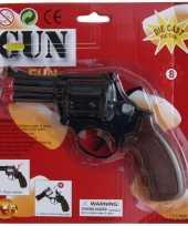 Feest speelgoed politie revolver zwart
