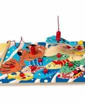 Feest speelgoed puzzel met vissen en magneet hengel