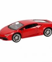 Feest speelgoed rode lamborghini huracan lp610 4 auto 12 cm