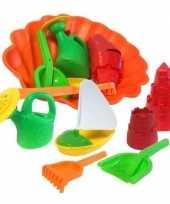 Feest speelgoed strand set met zandvormen 7 delig