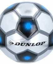 Feest speelgoed voetbal grijs zilver blauw 23 cm