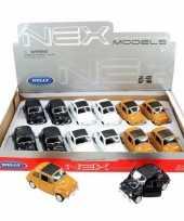 Feest speelgoed witte fiat 500 classic auto 10 5 cm