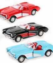 Feest speelgoedauto chevrolet corvette 1957 cabrio