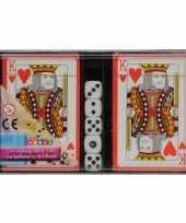 Feest speelkaarten met dobbelstenen set