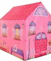 Feest speeltent speelhuis roze huis 102 cm