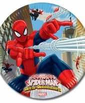 Feest spiderman bordjes van karton 23 cm 10145081