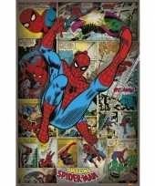 Feest spiderman comicbook poster collage