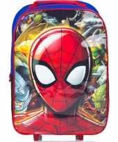 Feest spiderman handbagage reiskoffer trolley 42 cm voor kinderen