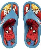Feest spiderman slippers voor kinderen