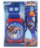 Feest spiderman wandklok 92 cm