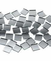 Feest spiegel mozaiek tegels 10x10 mm 500 stuks