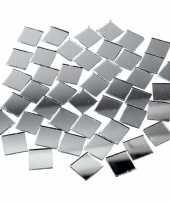 Feest spiegel mozaiek tegels 16x16 mm 500 stuks