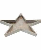 Feest ster onderzetter metaal 26 cm