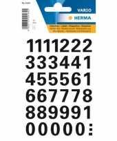 Feest stickervellen met 36 zwarte cijfers zwart van 15 mm 10207122