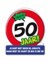 Feest stopbord verjaardagskaart 50 jaar