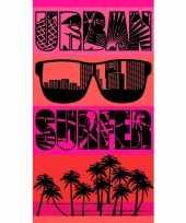 Feest strandlaken urban surfer 95 100 x 175 cm