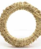 Feest stro kerstkrans om te decoreren 50 x 8 cm