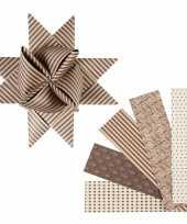 Feest stroken papier bruin beige 40 stuks