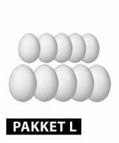 Feest styropor eieren 10 en 12 cm 10 stuks