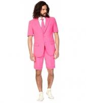 Feest summersuit roze voor heren