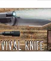 Feest survival mes met vuur en licht