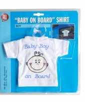 Feest t-shirt baby on board jongen voor in de auto