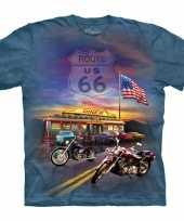 Feest t-shirt voor volwassenen met de afdruk van een route 66