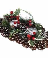 Feest tafel kerstdecoratie kaarsenstandaard 34 cm