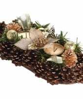 Feest tafel kerstdecoratie kaarsenstandaard goud 30 cm