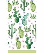 Feest tafelkleed cactus print 138 x 220 cm