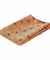 Feest tafelkleed spinnenweb oranje 120 x 140 cm
