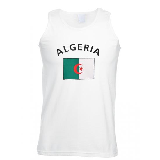 Feest tanktop met vlag algerije print