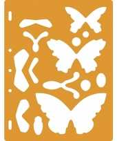 Feest tekensjabloon vlinders