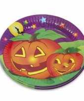 Feest thema halloween bordjes 10 stuks